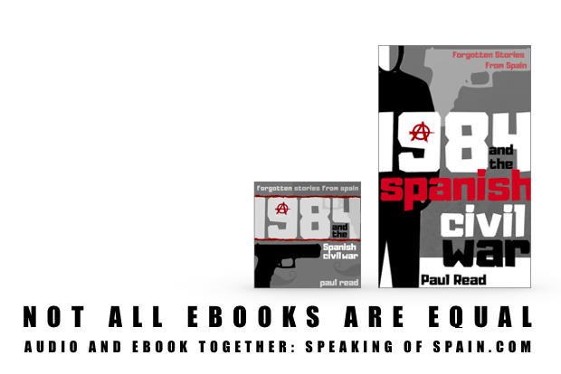 Orwell and 1984 audio and ebook covers