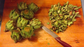 Artichokes for the wood stove