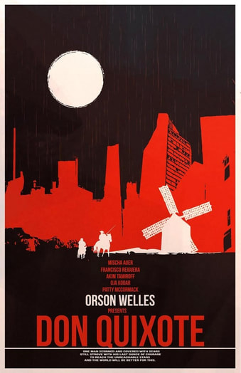 Orson welles and Don Quixote poster